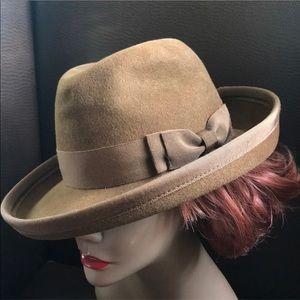 Vintage Adolfo II Wool Fedora Hat
